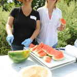 Serving Up Some Fresh Watermelon at Slow Food Huntington's Time for Lunch Event